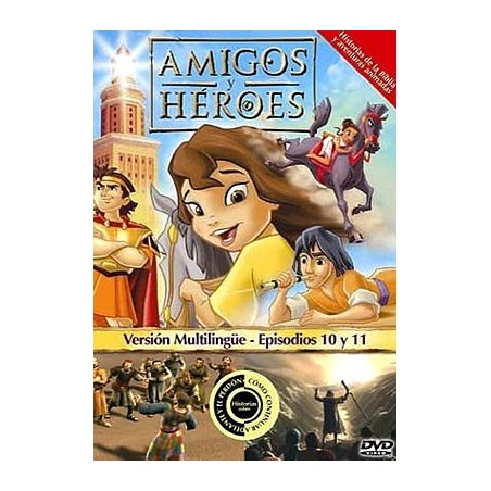 Amigos y Héroes 5 DVD Dibujos animados con valores