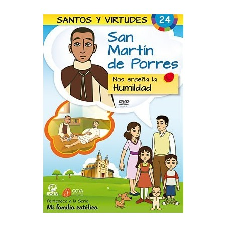 San Martín de Porres y la Humildad DVD dibujos animados católicos