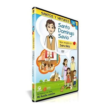 Santo Domingo Savio y la Sencillez DVD dibujos animados católicos