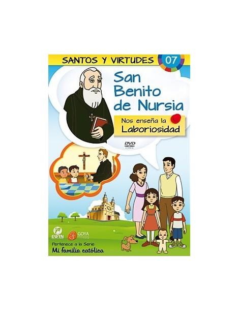 San Benito de Nursia y la Laboriosidad DVD dibujos animados católicos