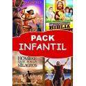 Pack INFANTIL DVD los mejores dibujos animados religiosos para niños