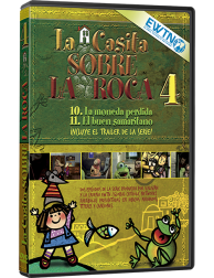 La Casita sobre la Roca 4 DVD de dibujos animados religiosos para niños