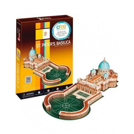 Puzzle 3D Basílica de San Pedro (56 piezas)