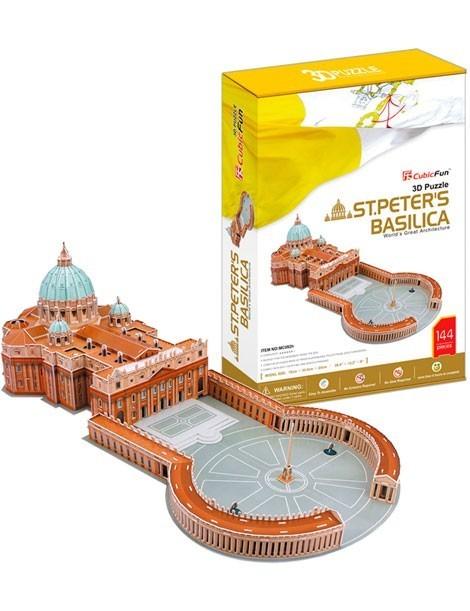 PUZZLE 3D BASÍLICA DE SAN PEDRO (144 PIEZAS)