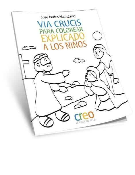 Via Crucis para colorear explicado a los niños - encristiano.com