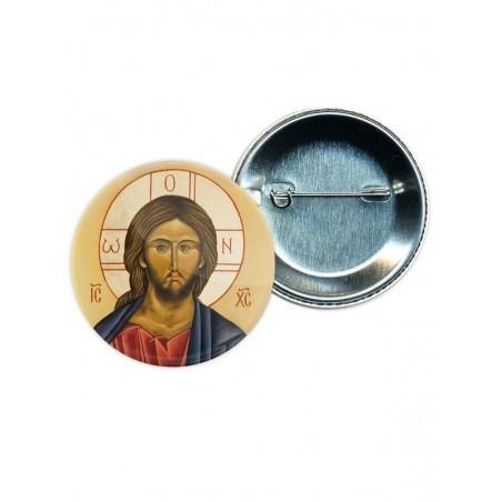 Chapa Jesucristo en icono oriental