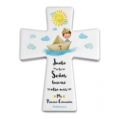 Cruz Junto a ti, Señor (Niño). Primera Comunión