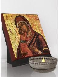 Icono clásico de la Virgen María y el Niño Jesús