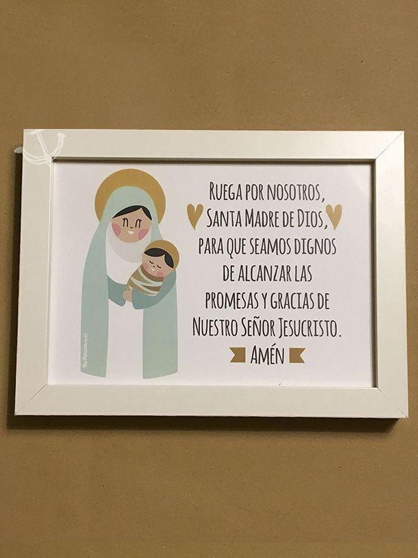 Cuadro - Ruega por nosotros Santa Madre de Dios - encristiano.com