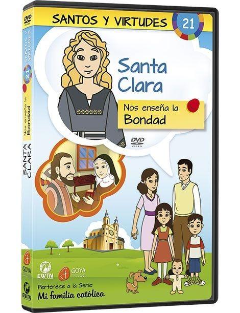 Santa Clara y la Bondad DVD dibujos animados católicos