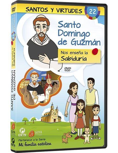 Santo Domingo de Guzmán y la sabiduría DVD dibujos animados católicos