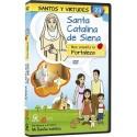 Santa Catalina de Siena y la Fortaleza DVD dibujos animados católicos