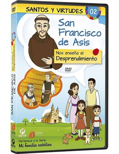 San Francisco Asís y el Desprendimiento DVD dibujos animados católicos
