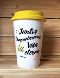 Vaso para café - Take Away - Juntos conquistaremos la vida eterna