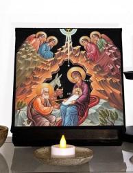 Icono griego de la Natividad