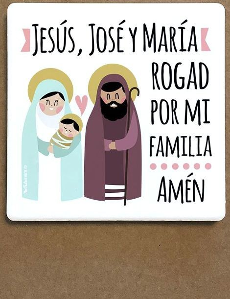 Imán de cerámica - Jesús, José y María