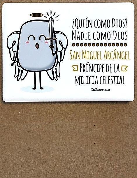 Imán de cerámica - San Miguel Arcángel