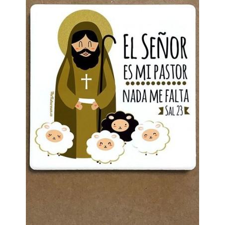 Imán de cerámica - El Señor es mi Pastor