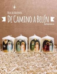 Kit de Velas de Adviento - De camino a Belén (pequeñas)