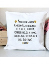 Cojín - Ángel de la Guarda (con oración)