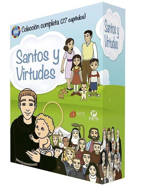 Película en DVD SANTOS Y VIRTUDES COLECCION COMPLETA 4 DVDS