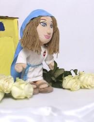 Peluche Virgen María con el Inmaculado Corazón