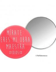 Espejo Mírate: eres mi obra maestra (Dios) - rojo