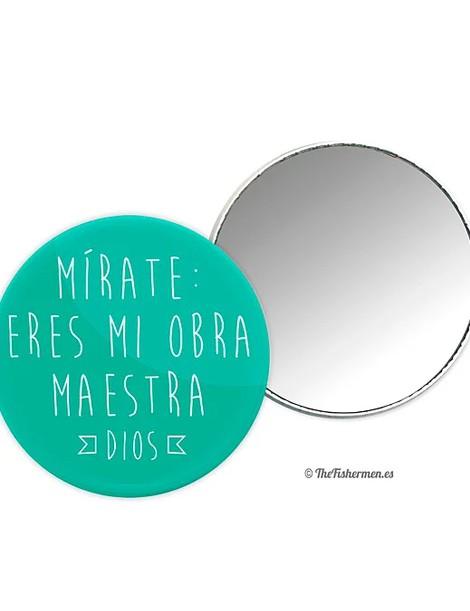 Espejo Mírate: eres mi obra maestra (Dios) - Turquesa
