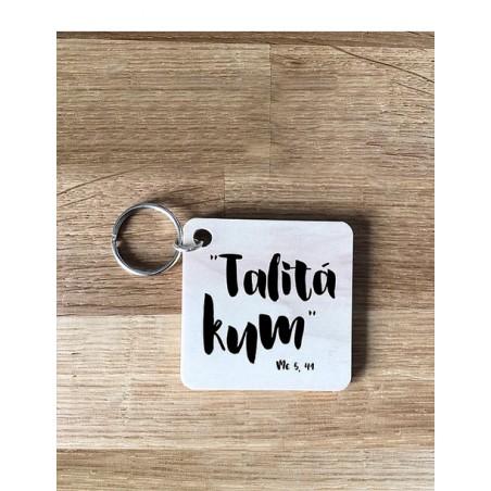 Llavero de madera - Talitá Kum