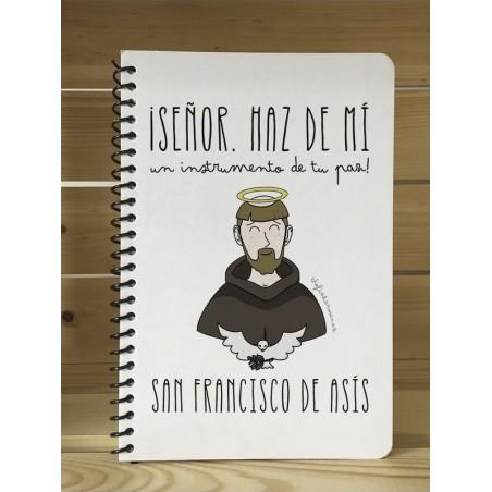 "Libreta · San Francisco de Asís ""Instrumento de tu Paz"""