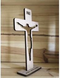 Cruz de madera · Jesús, en...