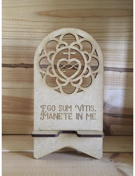 Soporte para móvil de madera · Sagrado Corazón de Jesús