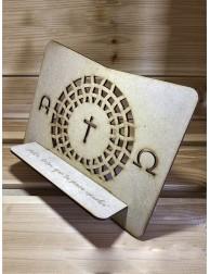 Atril de madera · Alfa y...