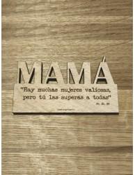 Imán de madera · Mamá, tú...