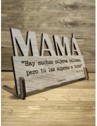 Placa de madera · Mamá, tú las superas a todas