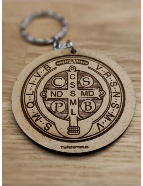 Llavero redondo · Medalla de san Benito
