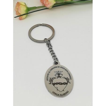 """""""Detente"""" Llavero medalla acero ovala 4 x 3 cm"""