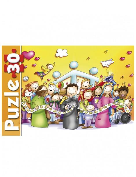 Puzzle Don Bosco y sus amigos (30 piezas)