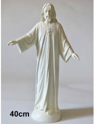 Figura grande Sagrado Corazón de Jesús - Cerro de los Ángeles (BLANCO 40 cm)