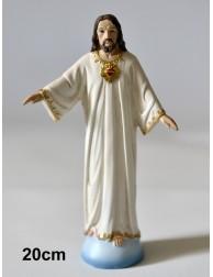 Figura Sagrado Corazón de Jesús - Cerro de los Ángeles (COLOR 19,8 cm)