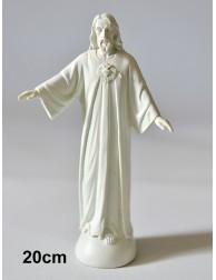 Figura Sagrado Corazón de Jesús - Cerro de los Ángeles (BLANCO 19,8 cm)