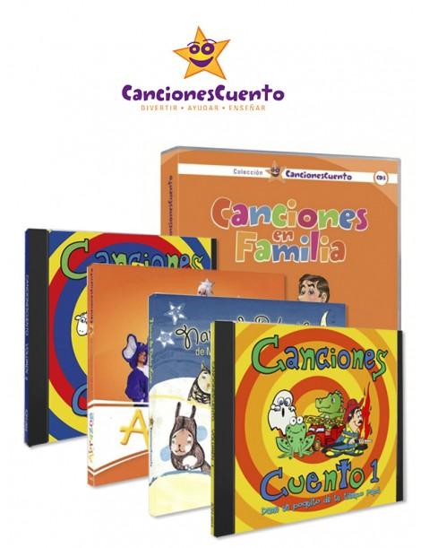 Pack completo CancionesCuento (5 CDs + 1 DVD)