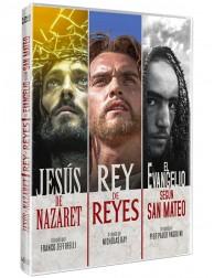 Pack Jesús de Nazaret + Rey de Reyes + El Evangelio según san Mateo (DVD)
