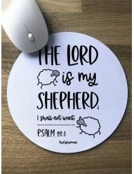 Alfombrilla de Ratón · The Lord is my shepherd (El Señor es mi pastor)