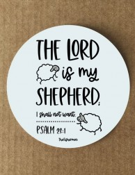 Pegatina · The Lord is my...