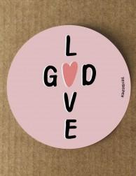Pegatina · God (is) Love