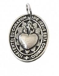 Medalla detente Corazón de Jesús - plata de ley