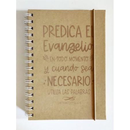 Libreta nature · Predica el Evangelio, san Francisco de Asís