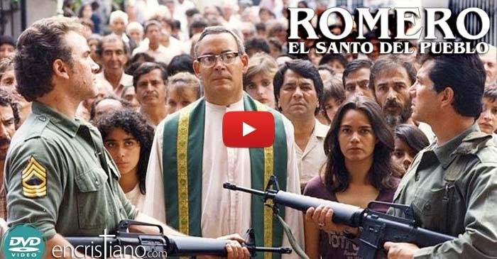 película en DVD: ROMERO, el santo del pueblo