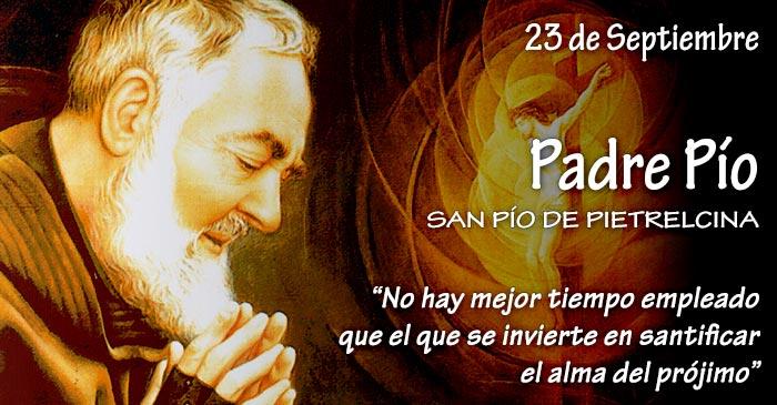 23 de Septiembre: Padre Pío